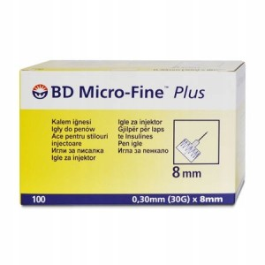Igły do penów BD Micro-Fine Plus 30G 8mm